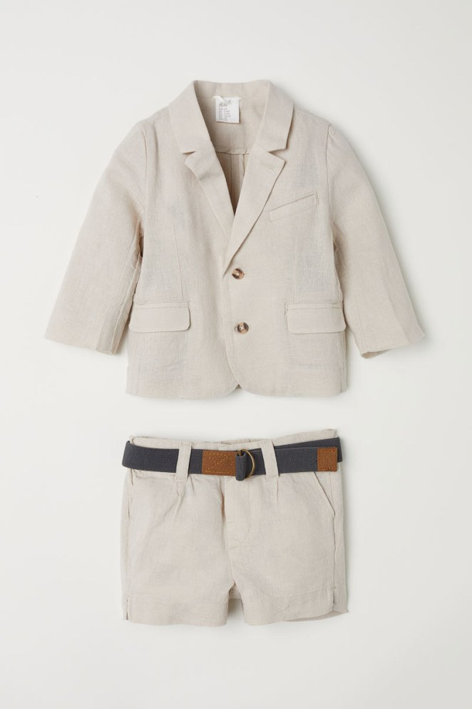 Get the blazer, shorts, and belt from H&M for $49.99 (available in sizes 4M-2Y).