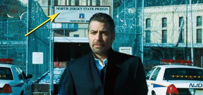 You can clearly see the sign in Ocean's Eleven, and Warner Brothers confirmed that in Ocean's 8, Debbie is released from Nichols Women's Prison in New Jersey.