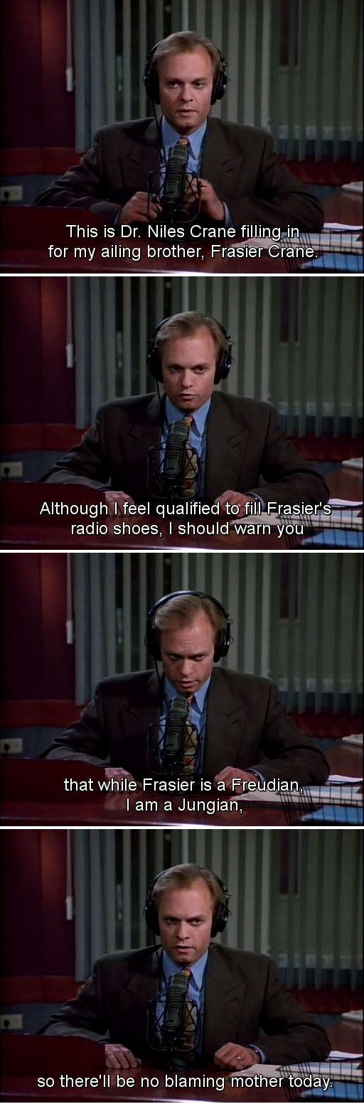 When Niles filled in for Frasier.