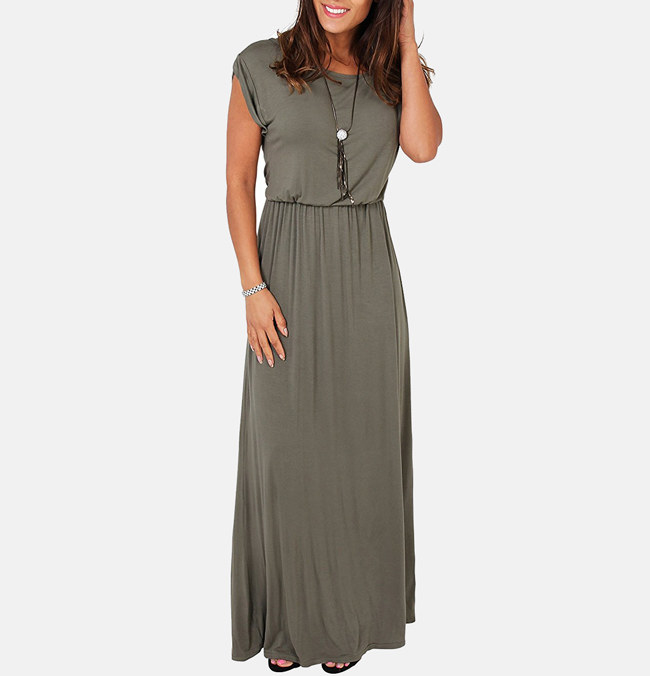"""Promising review: """"I love the dress. Its very comfy, soft, lightweight, and fresh. It's perfect for Texas heat. I weigh 150lbs and I'm 5'2"""". I bought this in a size medium, and it fits perfectly. The color is also awesome!"""" —Miriam C. Moreno 