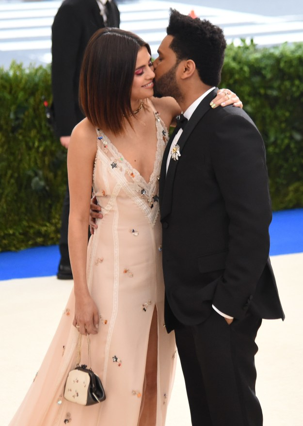Speaking of couples, let's pour one out for these former couples. Like, Selena Gomez and The Weeknd at the 2017 Met Gala...