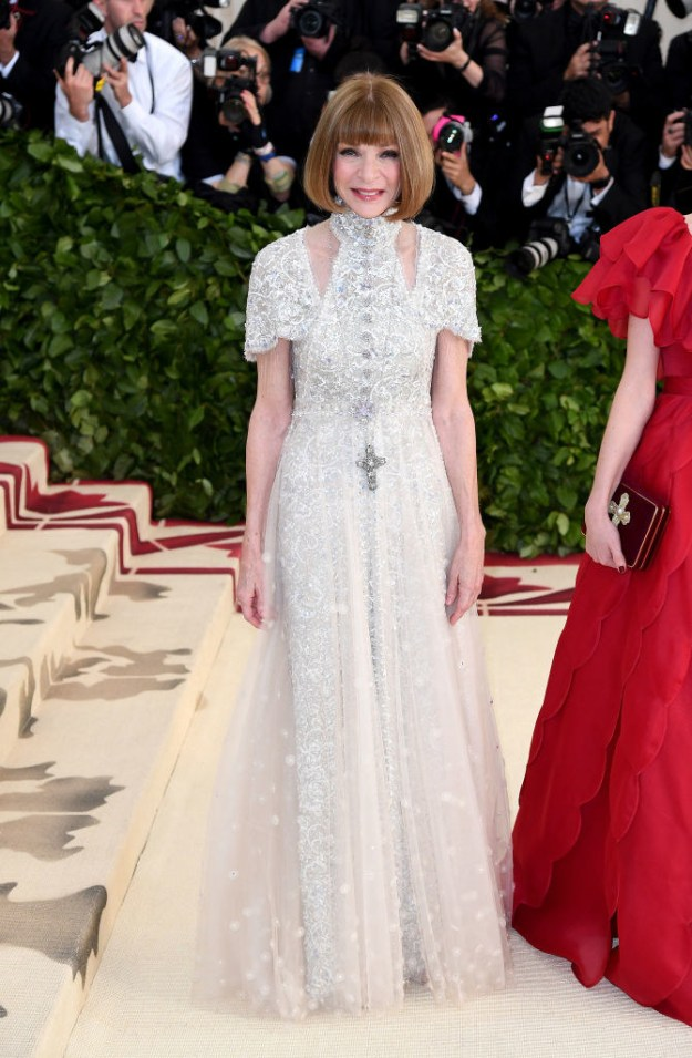 Well, at 2018's Met Gala, Anna couldn't stop smiling on the red carpet.