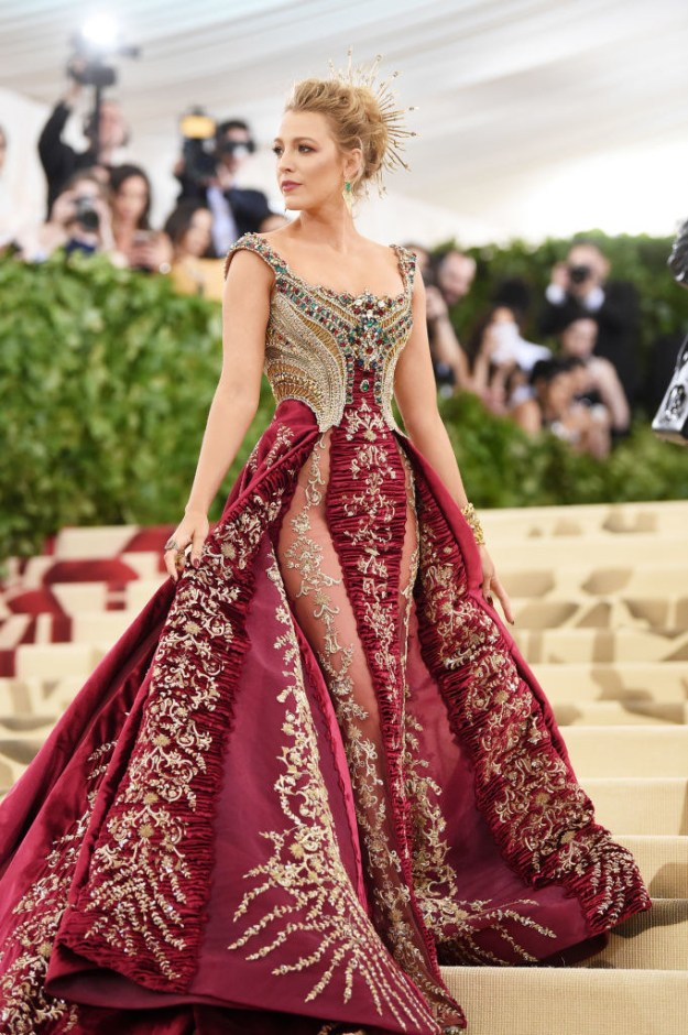 And according to Vogue, the Versace gown took over 600 hours to make.