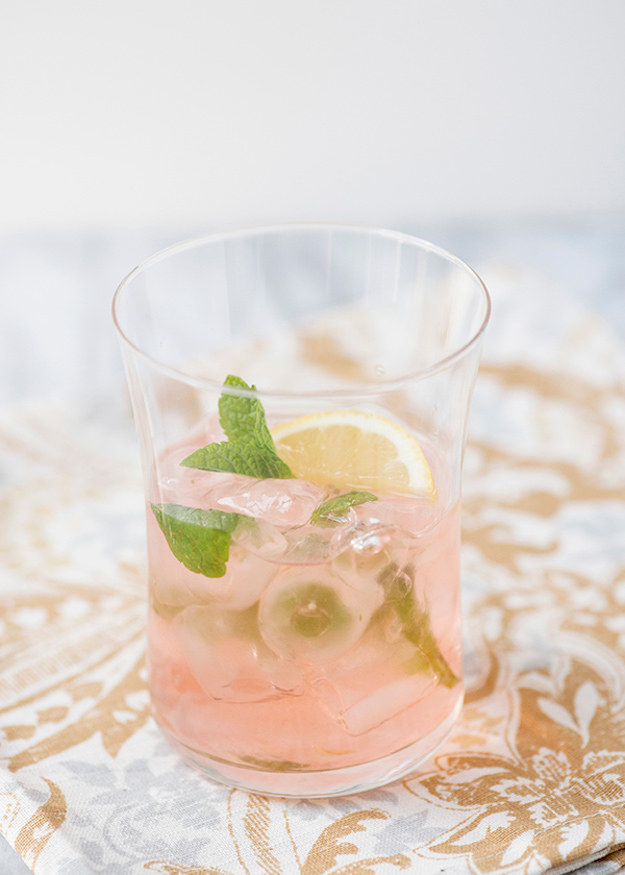 Feeling hot and sweaty? The crisp combo of elderflower and mint in this fresh cocktail is guaranteed to beat the heat. Get the recipe here.