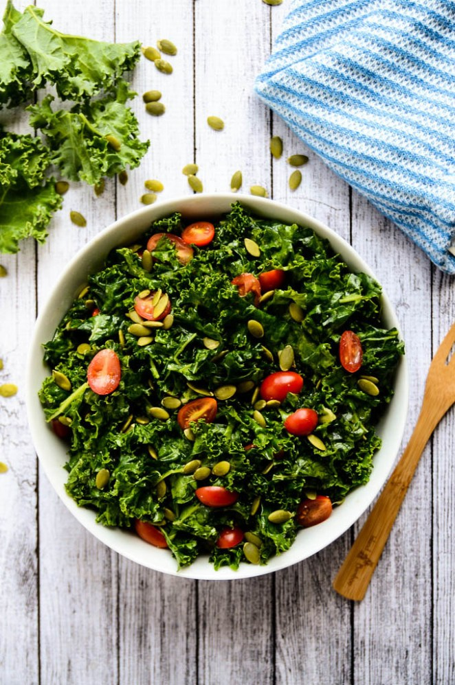 Massaging the kale with the dressing helps break it down and makes it super tender — so don't skip this step! Get the recipe.