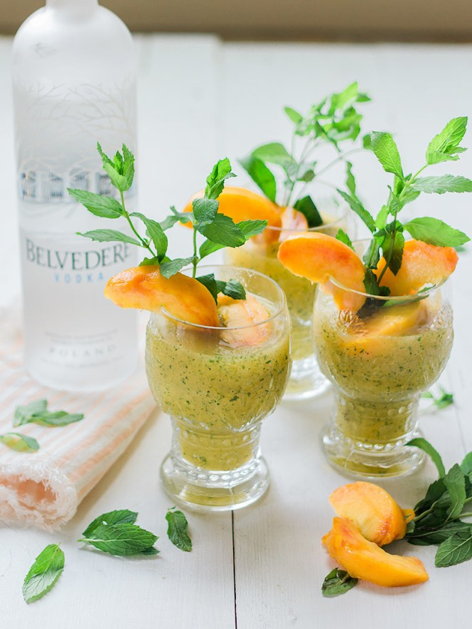As if the trio of peach, ginger, and mint isn't perfect enough — this cocktail is also in SLUSHY form. Could this be more summery? Get the recipe here.