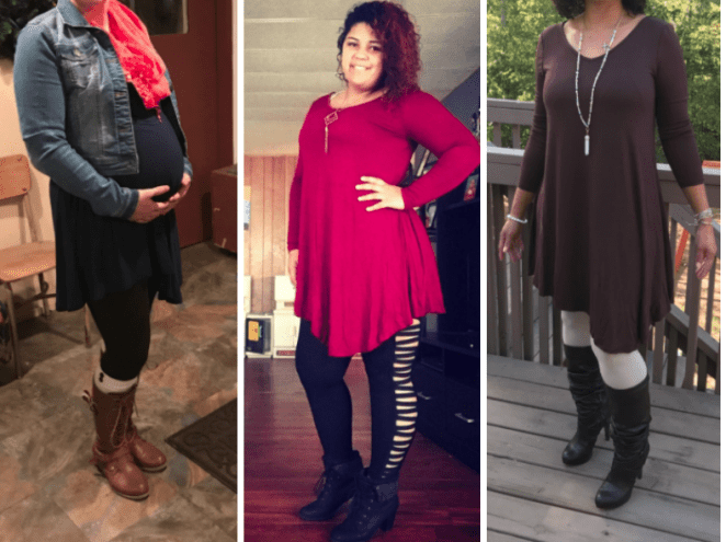 """I am 34 weeks pregnant and I love how comfortable this is. If you buy this during the winter just know that it's thin, but you can add lots of cute warmer layers. This will also be a cute dress for summer after I have the baby :-)"" —themightytank"