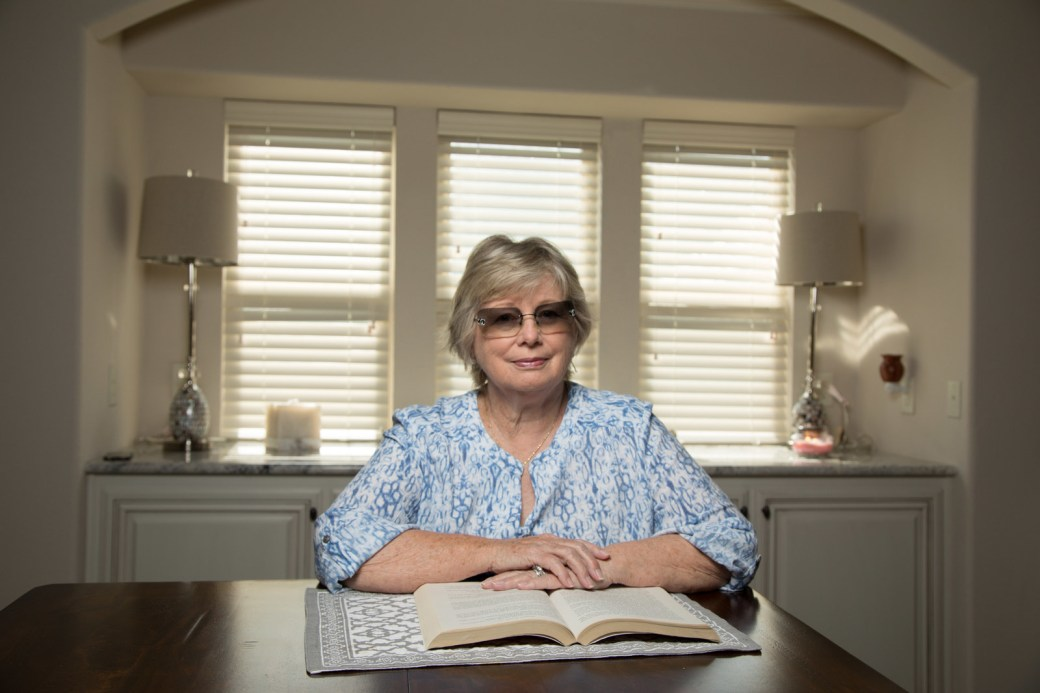 Sue Pope at home in Wylie, Texas.