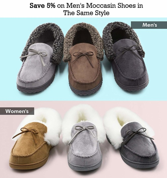 Get them from Amazon: the women's style for $19.99+ (available in sizes 6–11 and five colors) and the men's style for $13.99+ (available in sizes 8–14 and three colors).