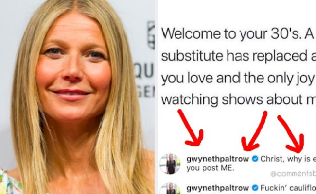 Gwyneth Paltrow Roasted Herself By Responding To This Meme