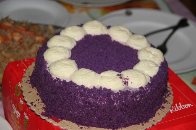 """A popular cake in the Philippines is Ube cake! It's a purple yam cake that is both sweet and delicious."" —diane25"