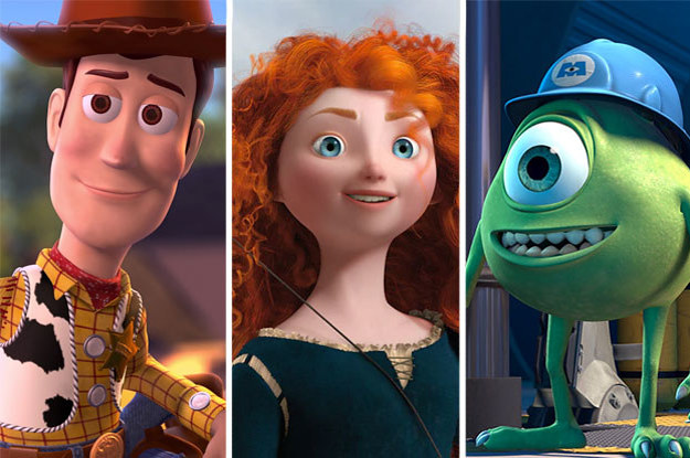 how many pixar characters