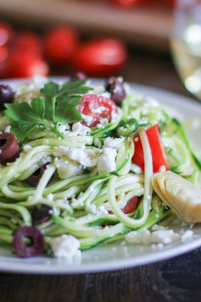 To get your zoodles to taste the best, make sure to adequately dry them before tossing them with any sauce. You can pat dry them with a towel, or even dry them in an oven to save yourself the trouble of squeezing. Get the recipe.