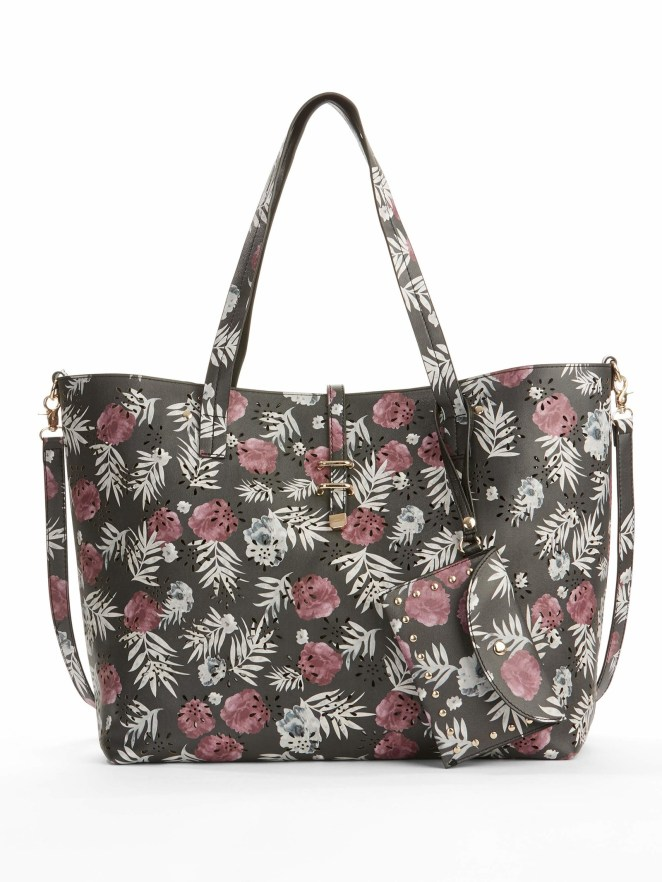 It comes with a smaller bag inside and a wristlet. Price: $20 (originally $36; available in two colors)