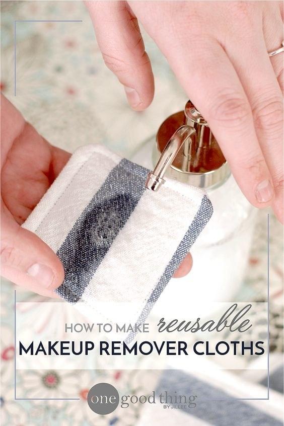 DIY Reusable Makeup Remover Cloths Instructions