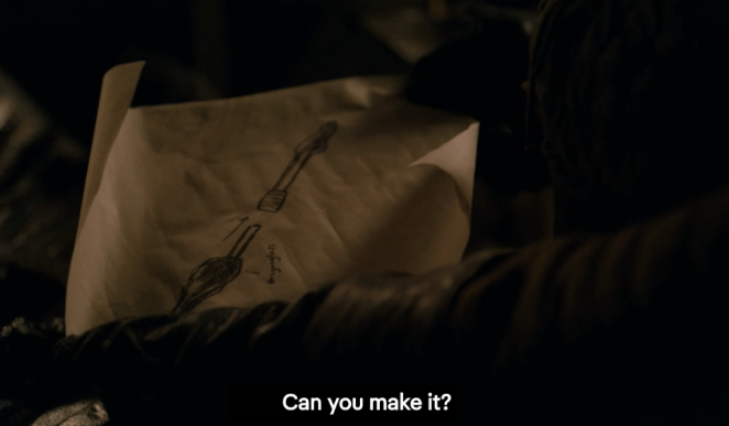 From the look of the trailers, Arya is wielding this weapon in the Battle of Winterfell in Episode 3.