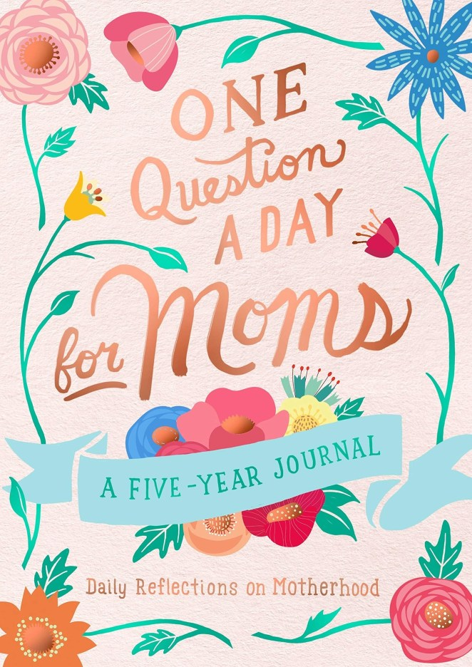 """The questions include things like: """"What qualities have your kids inherited from you?"""", """"What is your favorite time of day, and why?"""", and """"What big questions do you ask yourself?"""" Promising review: """"This journal is a great way to get into your mind without writing a lot. Each page asks a single question for the day and has enough space for five short answers which each line corresponding to a year. Because of the format, you can see how your point of view changes over the course of five years. The questions don't always lean towards your relationship with your child and how it changes over the years, but also covers questions about you as a person and how you change over the years."""" —K. ChanGet it on Amazon for $11.59."""