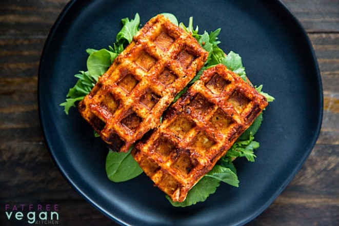 Who knew you could turn a block of tofu into a chewy, BBQ-flavored vegan waffle? Get the BBQ tofu recipe here.