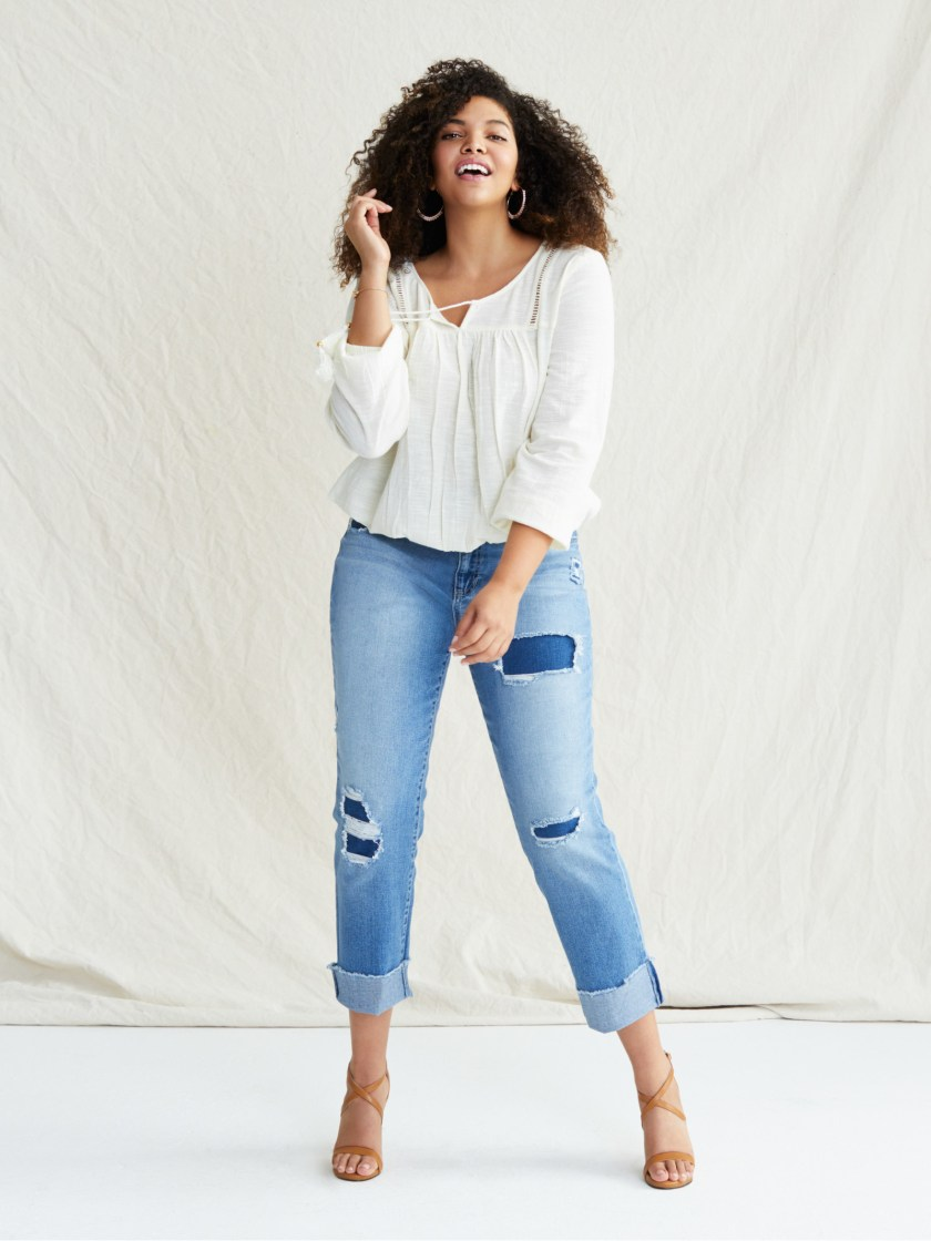 85bb28cd26 A pair of cuffed jeans from Sofia Vergara s darling new collection at  Walmart