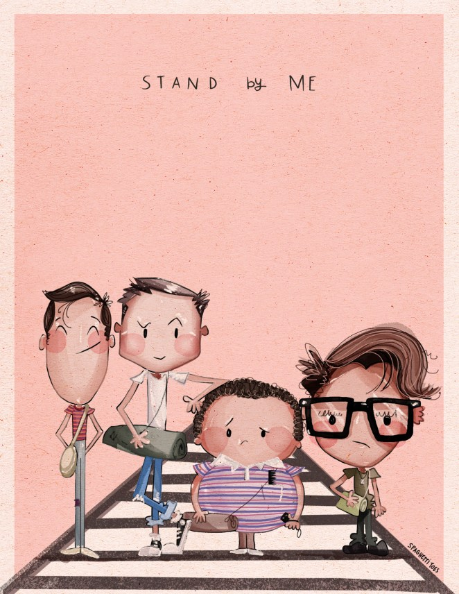 Here's Gordie, Chris, Vern, and Teddy from Stand By Me (or The Body in novella form).
