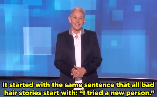 Ellen Degeneres Shares Her Hair Horror Story