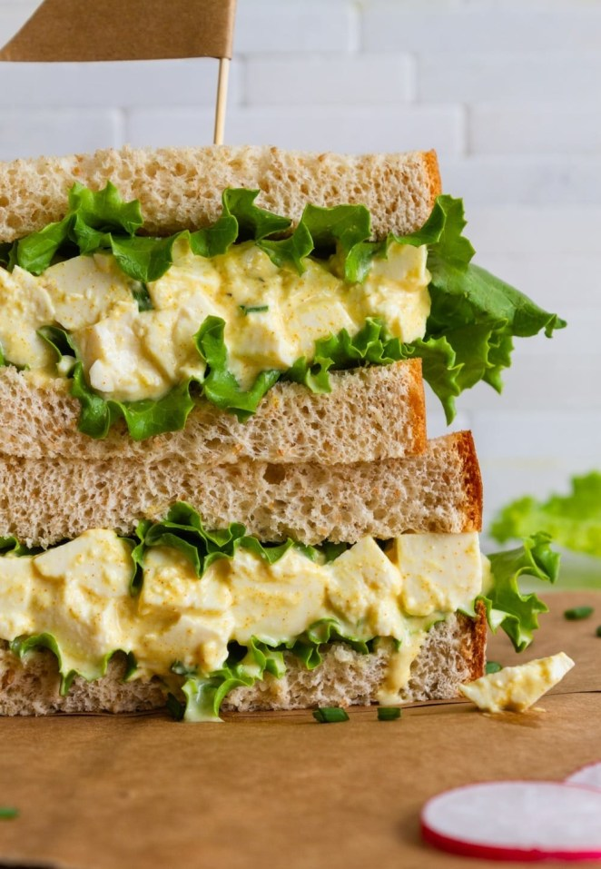 """Grab some tofu, mustard, and vegan mayo to whip up this enjoyable sandwich. Get the tofu """"egg"""" sandwich recipe here."""