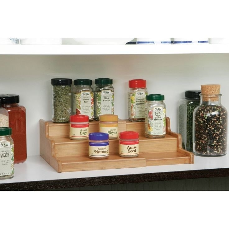 "Promising review: ""I purchased these to help organize my spices. I bought two of them to fit across the entire width of my cupboard shelf. They fit perfectly and look so tidy and professional now. Everything is easy to reach."" —Townsend Price: .80"