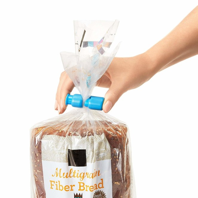 """Promising review: """"These have to be among the most useful gadgets in my kitchen and we use them constantly for open loaves of bread, crackers, rice, and many other types of packaging where you need a secure hold. I no longer save twist ties, those funny square plastic thingies that come with so much packaging. I have ordered additional ones since the kitchen is not the only place I have found them useful."""" —Connie of GAGet a pack of three from Amazon for $5.99."""