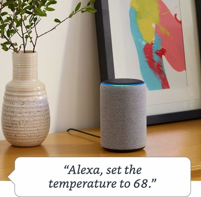 """This version comes with a ~free~ smart lightbulb. An extra fun dad project!Promising review: """"Got my parents this for Christmas, and they love it. It helps my mom with answering questions she has and with cooking-related questions and helps my dad with phone numbers and weather as well as news. Speaker is nice, I would highly suggest getting Amazon Music or Spotify Premium to help on the music end of things. It makes life a lot easier."""" —Amazon CustomerGet it from Amazon for $149.99 (available in three colors).Send your dad to """"21 Amazon Echo Tips You Should Definitely Know About"""" so he can fully explore everything the Echo has to offer!"""