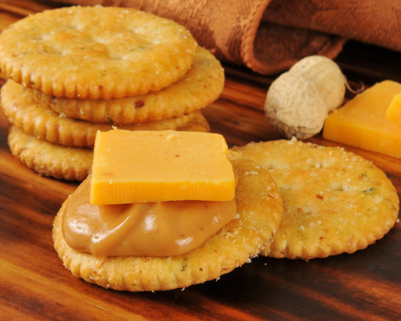 Or even just cheese dipped into the peanut butter jar.