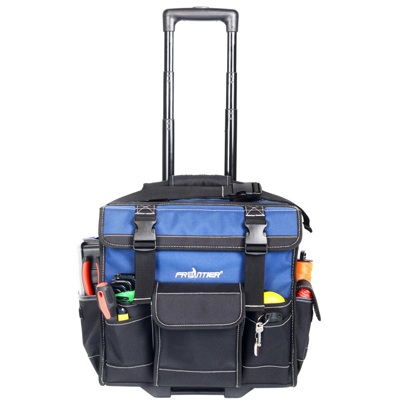"""Promising review: """"Surpasses my expectations. Perfect for my job, as I travel a lot. Many slots for tools. So far, it withstands the harsh conditions it experiences."""" —MGDDPrice: .97"""
