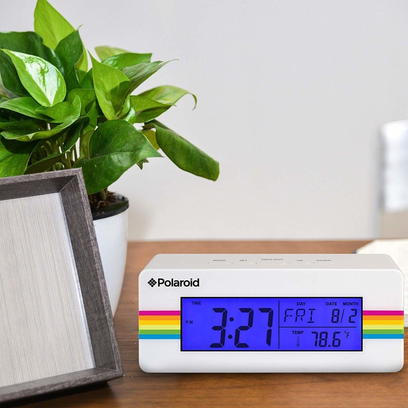 """This clock has dual time display, an indoor temperature display, a calendar display, and alarm and snooze option. It runs on three AAA batteries (not included).Promising review: """"This clock is exactly what I needed. It's a really great compact alarm. It has all the bells and whistles. I'm very happy with it, except having it wake me up."""" —Amazon CustomerGet it from Amazon for .97.Retro not your dad's style? Head to """"33 Tech And Gadget Father's Day Gifts For Every Kind Of Dad"""" to find just the right gizmo for him."""