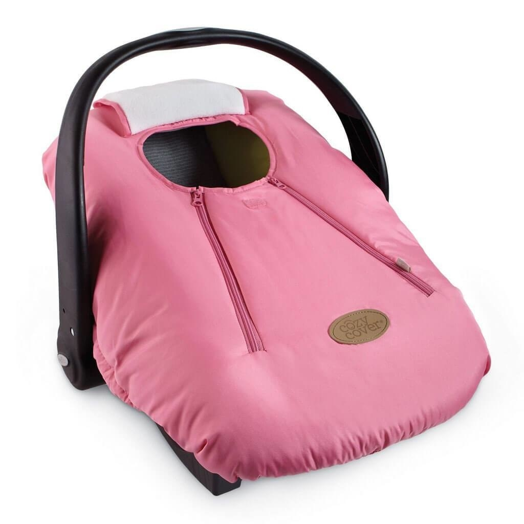 """It stretches over an infant car seat, and blocks out any cold that might want to seep in! The two zippers make it easy for you to reach your baby and buckle them in. And yes, it's machine washable. Promising review: """"Absolutely worth the buy! Great price for a great invention. I had my daughter in the cold winter months and it protects from wind, snow, even rain. Made out of good material and very easy access. Universal cover, fit the Graco infant car seat I have perfectly! Would definitely recommend."""" —mamaGet it from Walmart for .62+ (four colors)."""