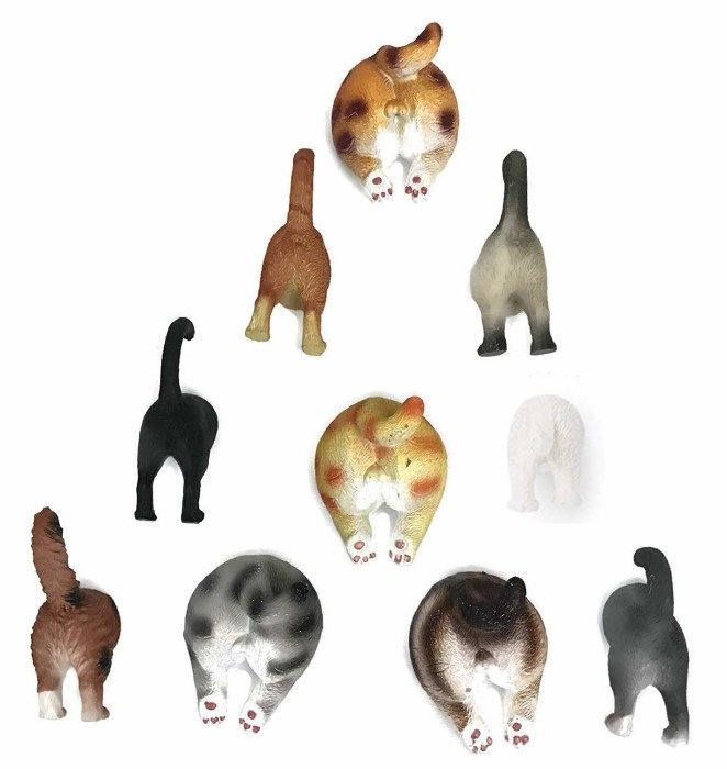 """Promising review: """"I was surprised at how strong the magnets are, as some other cat kitchen magnets by other sellers reviews stated weak magnetic hold. These can easily hold up about 10 sheets of paper. I used them for holding photos on my refrigerator, but they can hold more weight if needed."""" —Angel BruceGet a pack of 10 from Amazon for $13.99."""