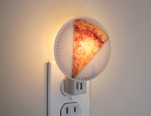 """Promising review: """"The subtle, sexy glow that this pizza nightlight shines transcends space and time. Sure, it might make me hungry every time I go to the bathroom in the middle of the night, but I find the pros to significantly outweigh the con."""" —SqueegyBuckenheimGet it from Amazon for $6 (available in eight styles)."""