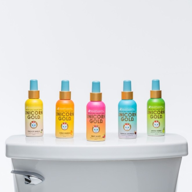 """Yes, that's right, they're made from the same company that brought us the holy-grail Squatty Potty. Their formula is a blend of essential oils and real gold nanoparticles to trap odors above and beneath the toilet water and fully deodorize the roomPromising review: """"This spray will save your reputation! I've tried Poo-Pourri before, but it smells like someone took a dump in a bowl of fruit loops! With this, all I smell is a nice subtle nature smell without even a hint of poop. Amazing product!"""" —AliGet it from Amazon for $9.75 (available in five scents).To learn more, check out """"This $10 Spray Is The Answer To Your Pooping Anxiety""""."""