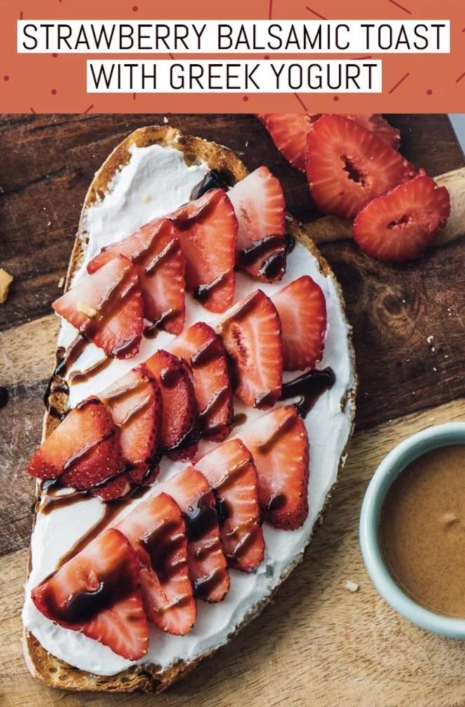 Protein-packed Greek yogurt is the perfect base for whatever seasonal summer fruit — strawberries, blackberries, peaches — you've got on hand.Recipe: Strawberry-Balsamic Toast with Greek Yogurt
