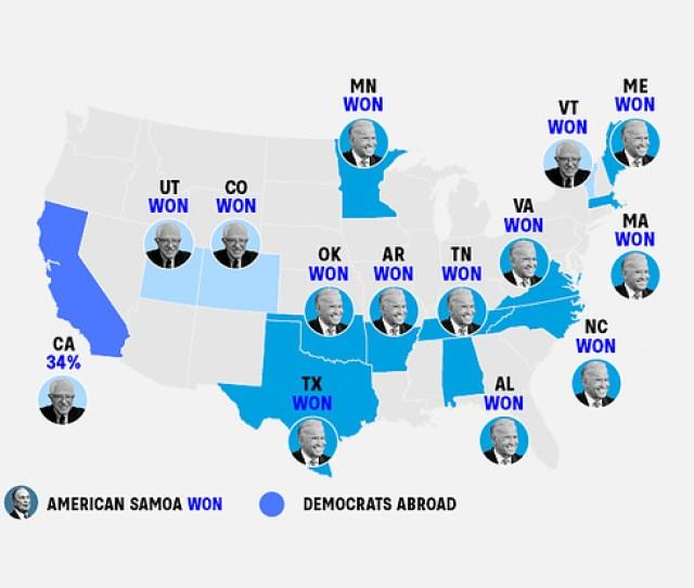 Live Results Super Tuesday Democratic Primaries