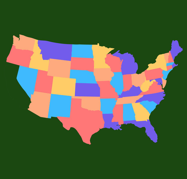 The united states territories of guam, puerto rico, the u.s. These Us Maps Look Weird Do You Know Which State Is Missing