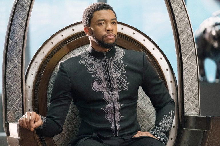 T'Challa sitting on the throne