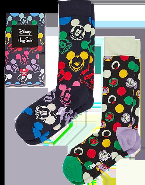 rainbow colored mickey socks