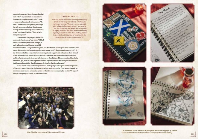 an inside spread of the book