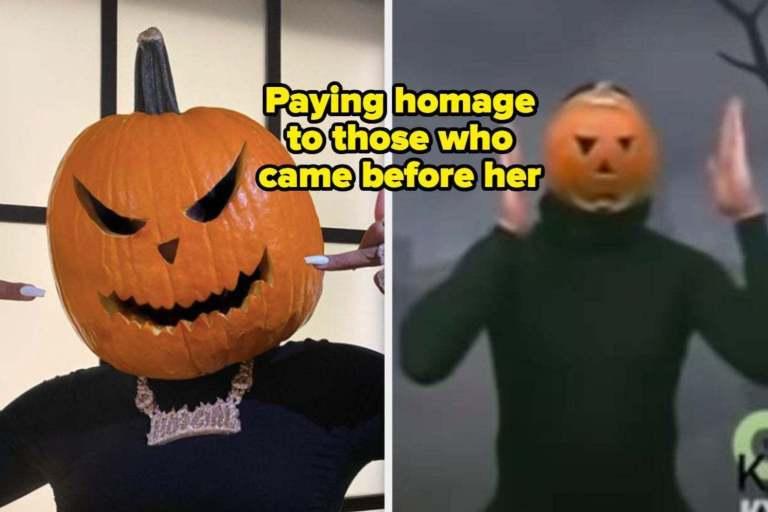 Megan Thee Stallion Halloween Pumpkin Photos