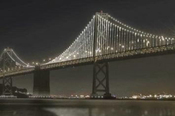 Worlds Largest Light Sculpture On San Francisco Bridge