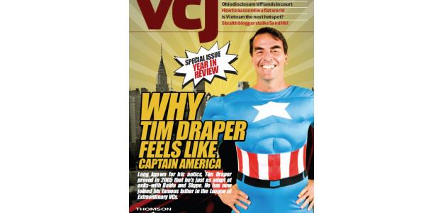 Tim Draper en la portada de una revista
