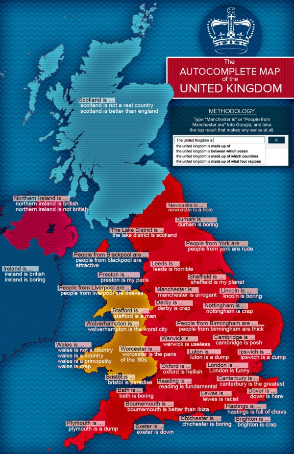 The Autocomplete Map Of The United Kingdom