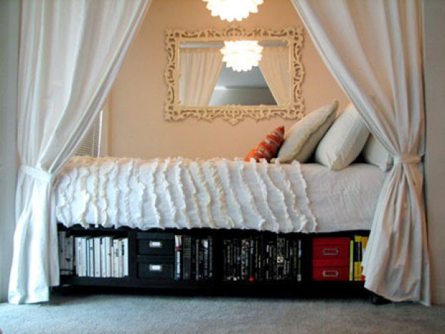 Tuck your bed into an alcove.