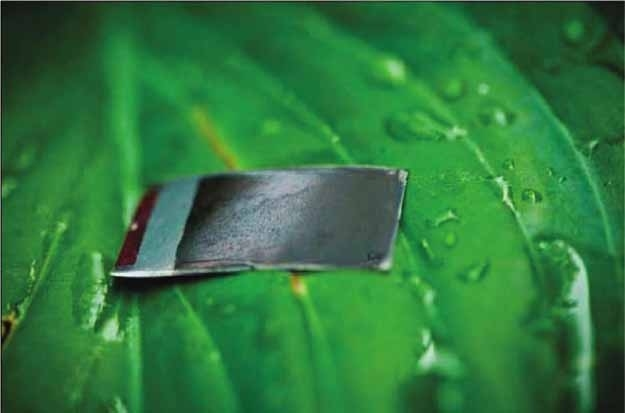 Using relatively inexpensive materials, Daniel G. Nocera created the world's first practical artificial leaf. The self-contained units mimic the process of photosynthesis, but the end result is hydrogen instead of oxygen. The hydrogen can then be captured into fuel cells and used for electricity, even in the most remote locations on Earth.