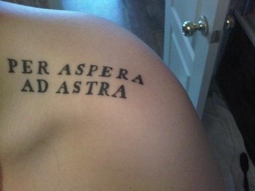 Ad Astra Per Aspera Tattoo Ideas