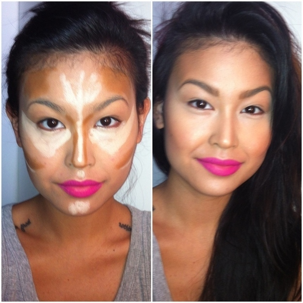 This image makes contouring seem way less daunting.